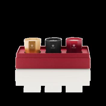 80 g Candle Trio Gift Box - Rosso Nobile, Ambra and Melograno